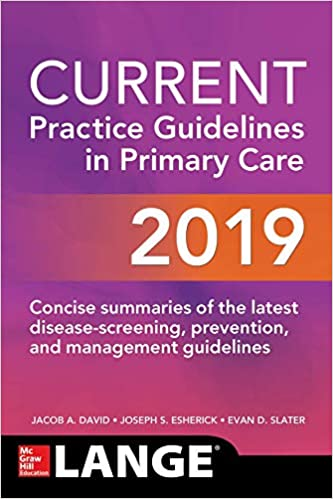 CURRENT Practice Guidelines in Primary Care, 2019