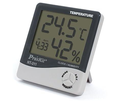 Medidor de temperatura y humedad ambiente para la habitación del bebé o el baño - Calidad garantizada.: Amazon.es: Bebé