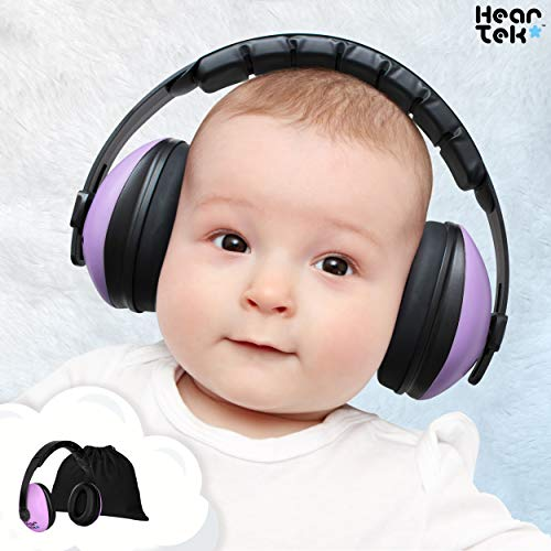 Baby Ear Protection - Noise Cancelling Muffs for Babies Infant Tots Toddler Child - Kids Hearing Protection Earmuffs - Sound Proof Noise Canceling Headphones - Ages Newborn to 3 Years - Lavender (Best Noise Cancelling Earmuffs)
