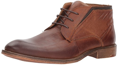 Steve Madden Men's Quazzy Chukka Boot, Cognac Leather, 9.5 US/US Size Conversion M US