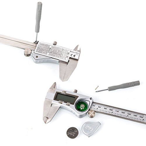 APG Digital Caliper Stainless Steel with LCD Screen, Accurate Metric Inch Conversion Electronic Vernier Caliper Tools for Pearl Jewelry & Accessories Precision Measurement - Waterproof,150 mm,6 Inch by APG (Image #5)