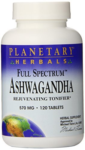 Planetary Herbals Full Spectrum Ashwagandha 570 mg Tablets' 120 tablets (Pack of 2) by Planetary Formulas