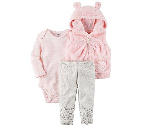 Carter's Baby Girls' 3 Piece Bear Cardigan Little Jacket Set 6 - Warehouse Clothing Designer
