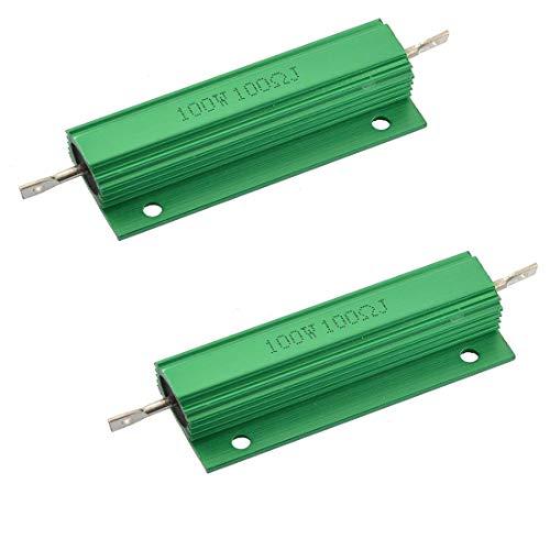 Yohii 2Pcs Aluminum Shell 100W Watt 100 Ohm Wirewound Power ()