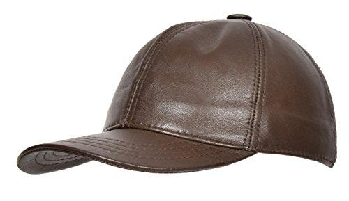 House Talla Marrón Of Gorra Leather Suave Béisbol Sombrero Cuero de de única Real Para Todos rrAUqzwx