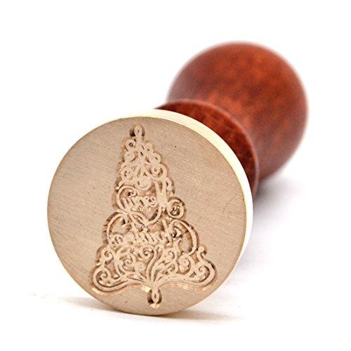 Sealing Wax Stamp - Merry Christmas Swirl Tree Design
