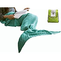 Hughapy knitted Mermaid Tail Blanket for Adults...