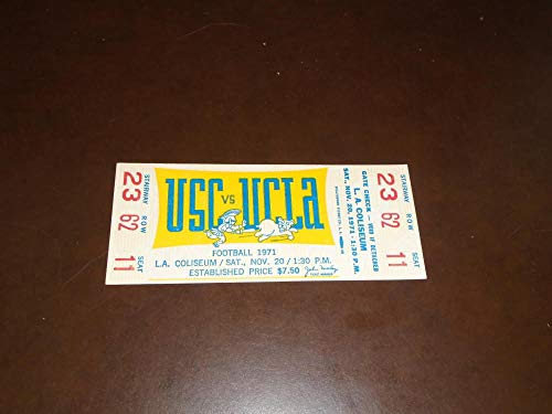 1971 USC AT UCLA COLLEGE FOOTBALL FULL TICKET EX-MINT for sale  Delivered anywhere in USA