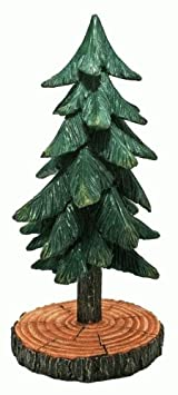 Pine Tree Figure Sculpture Collectible, 12-inch, Home Garden Decor