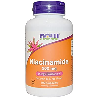 Now Foods Niacinamide 500mg, Vitamin B-3 Capsules, 200-Count