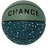 "Chance Chomper Premium Rubber Outdoor Basketball (Official Mens Size 7, 29.5"" Green Speckled) - Best Outdoor, Black-Top, Concrete, Street, Practice & Playground Basketball Courts"