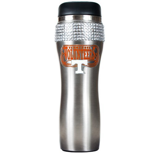NCAA Tennessee Volunteers Stainless Steel Jeweled Travel - Jeweled Coffee Tumbler