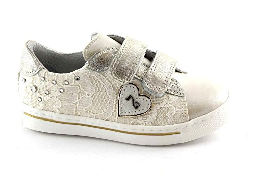 Nero Giardini Black Gardens Junior 28411 Elfenbein Spitze Schuhe Baby Tränen Beige
