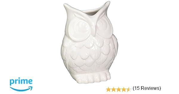 Abbott Ceramic Owl Vase White 27 Hooter8770