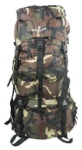 K-Cliffs Wholesale Hiking Backpack Large Scout Camping Bag Rain Cover Bulk Case Lot 6pcs