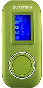 "Sunstech Fauno - Reproductor de MP3 (4 GB, pantalla de 1.1"", Radio) verde"