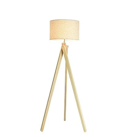 Lámpara de pie Cx Madera trípode lámpara de cabecera, diseño ...