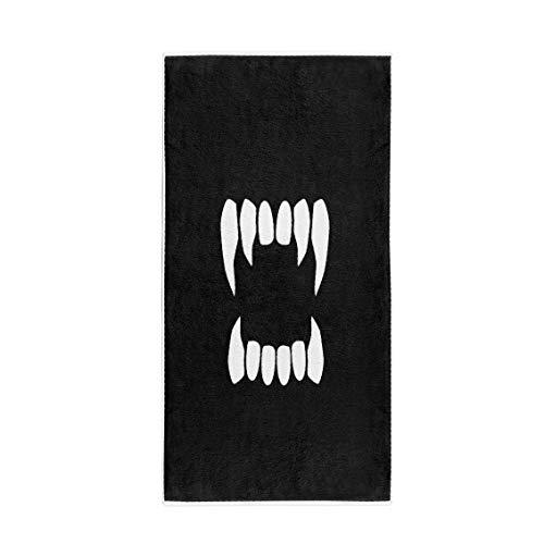 Pinbeam Bath Towel Tooth Vampire Teeth Neutral Fang Dracula Scary Halloween Towel Towel