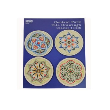 Central Parkタイル図面コースターセット   B071VHXFVR