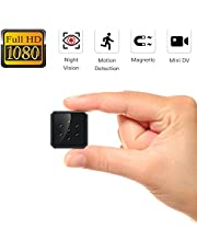 SZMDLX Spy Hidden Camera 1080P HD Wireless Home Security Surveillance Mini Cameras, Portable Tiny Nanny Cam Indoor/Outdoor Camcorder with Night Vision and Motion Detection