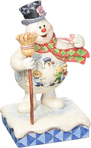 "Jim Shore ""Frosty the Snowman"" Frosty with Scene on Belly Stone Resin Figurine, -"