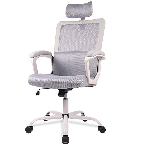 Office Chair, Mesh Office Chair, Ergonomic Office Desk Chair Computer Task Chair with Adjustable Headrest