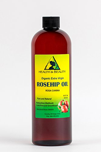 Rosehip Seed Oil Organic Unrefined Extra Virgin Cold Pressed Raw Premium Pure 16 oz