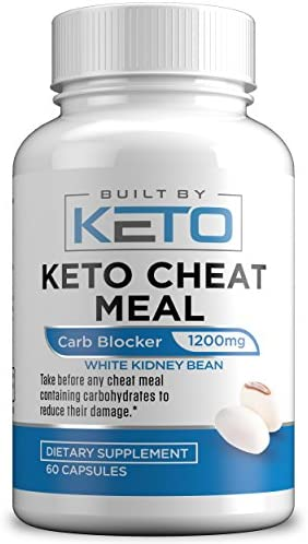 Carb Blocker - 1200mg White Kidney Bean Extract - Keto Cheat Meal - Best Carb, Starch, Fat Blocker for The Ketogenic Diet - Eat Carbs While on Keto - 60 Capsules - Built By Keto 1