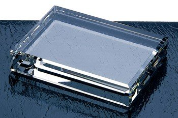 Beveled Optical Crystal Rectangle Paperweight (Rectangle Crystal Paperweight)