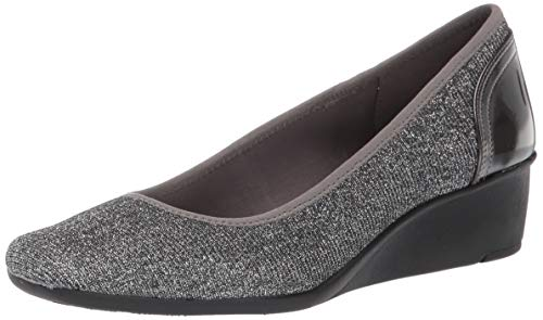 Anne Klein Women's Wisher Wedge Heel Shoe, Pewter, 8 M US (Ak Anne Klein Sport Womens Guardian Dress Pump)