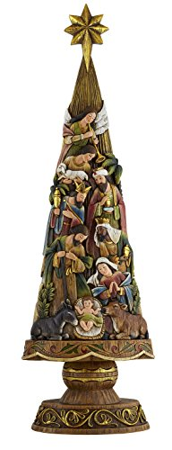 Avalon Gallery Nativity Figurine, Christmas Tree by CB Gift
