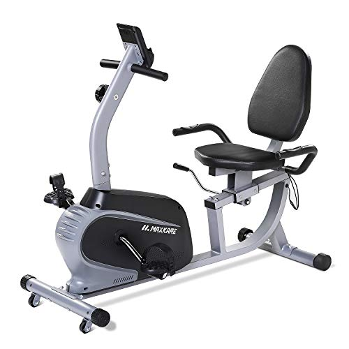 Buy MaxKare Recumbent Exercise Bike Indoor Cycling Stationary Bike with Adjustable Seat and Resistan...