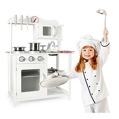 Leomark Cocina madera infantil Cocina de juguete con accesorios ...