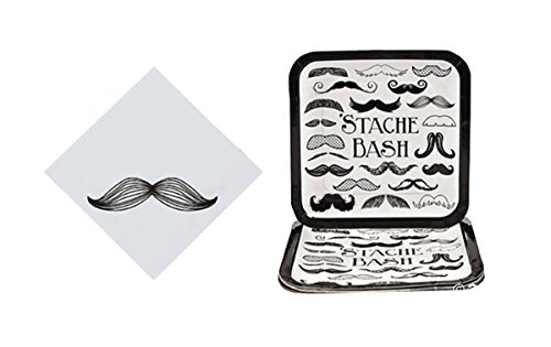 Mustache Party Set - Mustache Theme Plates and Napkins Set]()