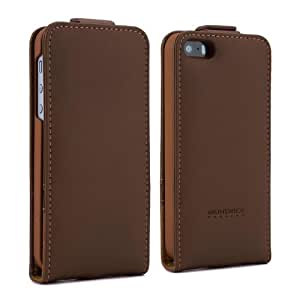 Proporta 09755 Protective Handcrafted Leather Case Cover for iPhone 5 - Retail Packaging - Brown