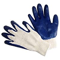 G & F 3100L-DZ Knit Work Gloves,  Textured Rubber Latex Coated for Construction, 12-Pairs, Men