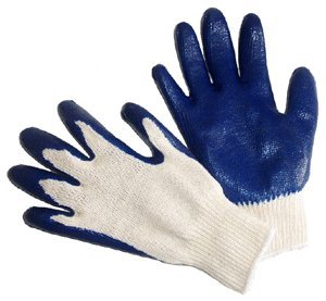 G & F 3100L-DZ Knit Work Gloves,  Textured Rubber Latex Coated for Construction, 12-Pairs, Men's Large (Gloves Nylon Dipped)