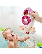 RONSHIN New Children Bathing Toy Water Spray Rocket Plastic Kids Bathroom Beach Toy Gift Pink