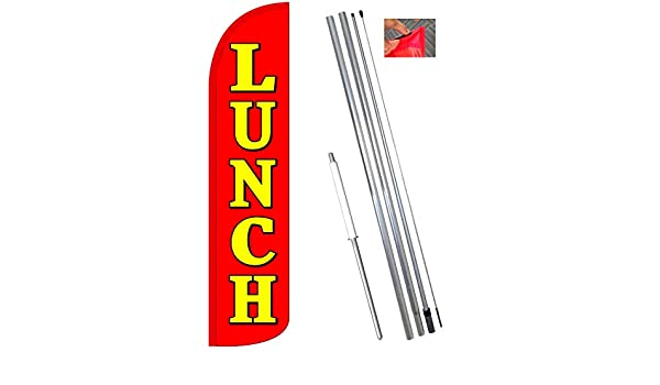 BAKERY yel//red 11.5/' x 3/' WINDLESS SWOOPER FLAGS BANNERS two 2