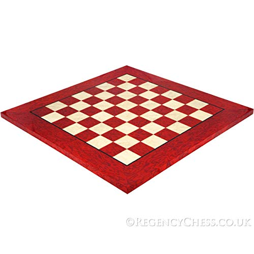 Regencychess 20 Inch Lacquered Red Erable Luxury Chess ()
