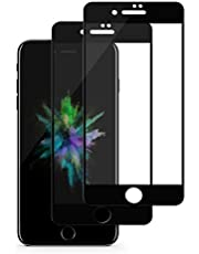Tentoki iPhone 7 Plus / 8 Plus Screen Protector, [2 Pack] HD Full Coverage Tempered Glass Screen Protector, Shatter-Proof, Anti-Scratch, Edge to Edge Protection Screen Film for iPhone 7/8 Plus