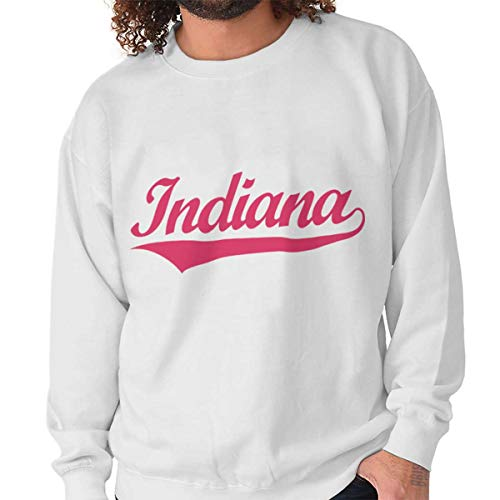 (Indiana Athletic Sports College Workout in Crewneck Sweatshirt)