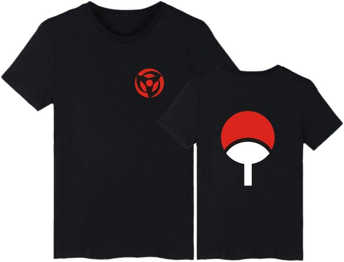 EMILYLE Hombres Naruto Uchiha Camiseta Top Tshirt Clan Syarinngann Japón Cómico Casual Deportiva