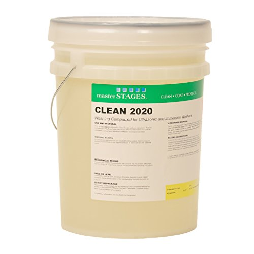 Master STAGES CLEAN2020/5G Clean 2020 Washing Compound for Ultrasonic and Immersion Washers, Pale Yellow, 5 gal Jug