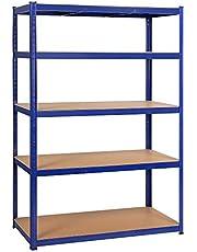 Yaheetech Rekken voor zware lasten 180 x 120 x 60 cm opslag rek 5 planken metalen plank max. belastbaarheid voor elk vak: 175 kg kelderrek steekrek werkplaatsrek