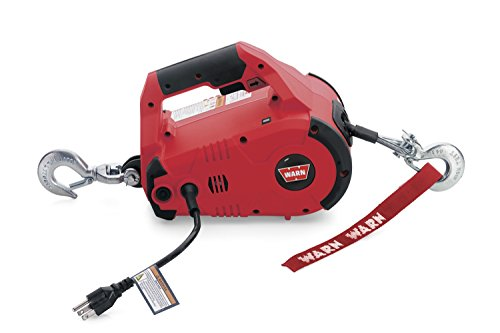 WARN 885000 PullzAll Corded 120V AC Portable Electric Winch with Steel Cable: 1/2 Ton (1,000 lb) Lifting/Pulling Capacity