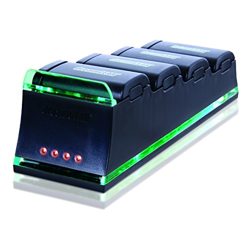 dreamGEAR Xbox 360 Quad Dock Pro. Charge up to four Xbox 360 rechargeable battery packs simultaneously (Rechargeable batteries not included)