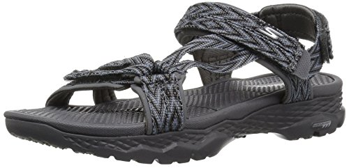 Skechers Performance Women's Go Walk Outdoors-Runyon Sport Sandal, Charcoal, 7 M US