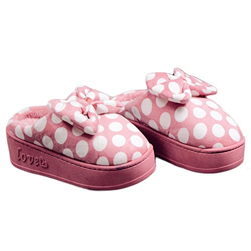 CYBLING Winter Women Warm House Shoes Cute Comfort Plush indoor slipper Soft Sole Anti-Slip Pink nsjyno8I