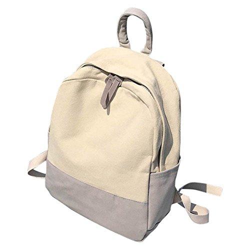 Libros Chica Bag Mochila Laptop Dama Para Student Majome Shoulder Moda Mujeres School Lienzo Gris EPBUwq